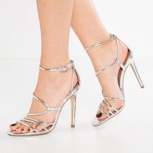 Steve Madden | Silver strap Heels